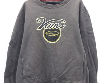 0172562736 Vintage Vans Skateboards big spell out logo size sweatshirt sweater vans  off the wall bitch skateboards Size Large