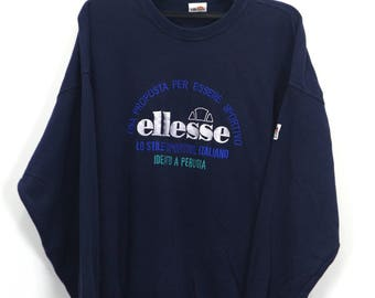 Vintage 90s Levis Valencia Spell out Logo Sweatshirt Blue
