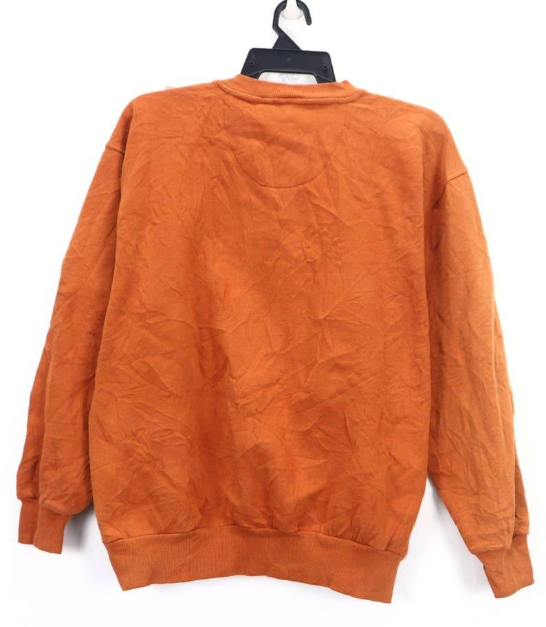 Vintage Orange Pullover Sweatshirt Crew Neck Italy Designer GIANNI VALENTINO ITALY  Sweatshirt Pullover Sweater Red Size Large