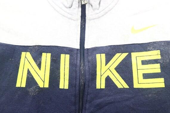 7d933c7873302 Vintage NIKE Zipper Sweater Unisex Nike Athlete Sport wear Color Block  Turtle Neck Men's Sweatshirt Size Large