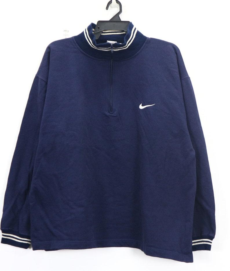 eaa91b6b43509 Vintage NIKE Half Zip Sweater Sweatshirt Unisex Nike Athlete Sport wear  Sweater Turtle Neck Men's Size Large