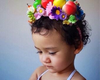 Fruity Bright Headpieces Purple Daisy
