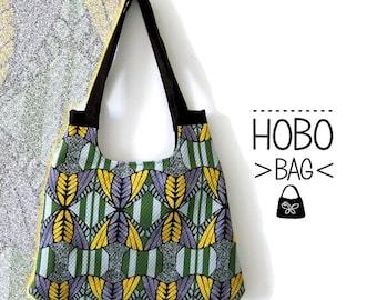 Patterned hobo bag. Fancy hobo bag. Woven handbag. Canvas bag, Canvas bag.