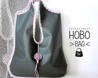 Grey hobo bag. Grey Hobo bag. Faux leather bag. Fashion bag