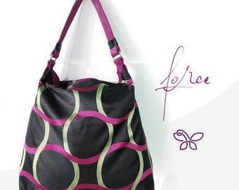 Force bag. Fancy fabric bag. Hobo bag. Soft fabric bag