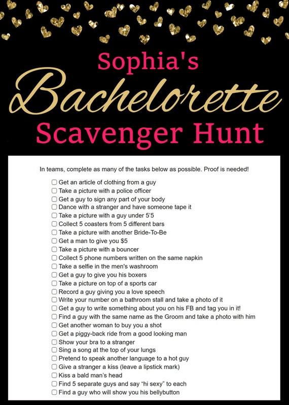 Personalized Bachelorette Scavenger Hunt Party