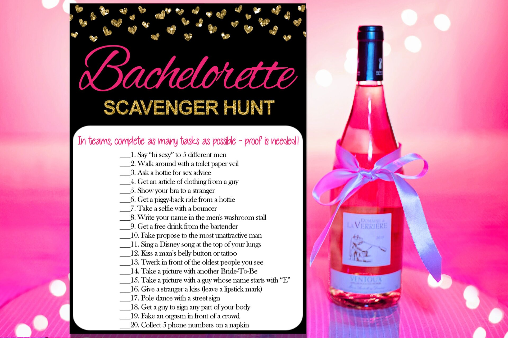 Bachelorette Scavenger Hunt Bachelorette Party Games | Etsy