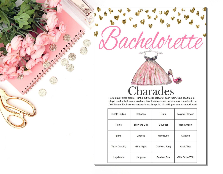 Bachelorette Party Charades Bachelorette Charades   Etsy