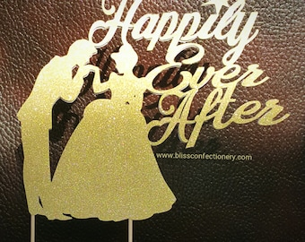 Cinderella Cake Topper - Wedding Cake Topper - Happily Ever After Cake Topper - Custom Cake Topper
