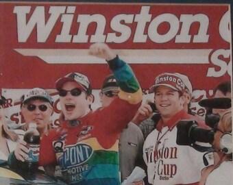 framed winston cup photo of Jeff Gordon