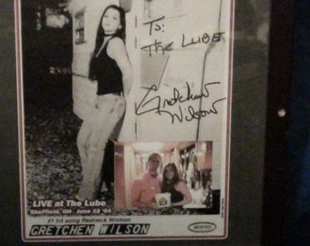 autographed gretchen wilson photo reduced