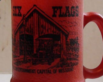 vintage six flags st louis  red mug