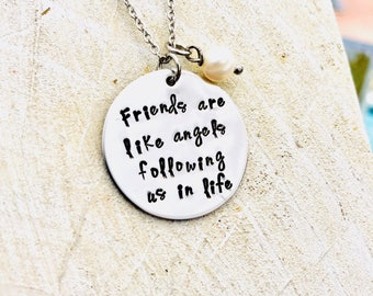 Friends are angels following us in life