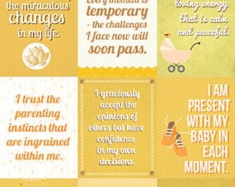 Instant download | Affirmations for mothers | Nursery decoration | ORANGE
