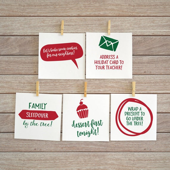 Printable Advent Calendar Fillers and Inserts  Advent