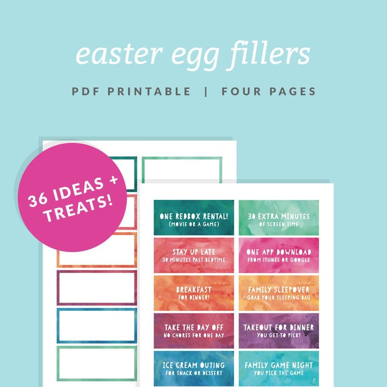graphic about Egg Coupons Printable identify Easter Egg Filler Coupon codes - Printable Easter Basket Fillers- Quick Obtain - Watercolor Dyed Easter Egg Appear - Easter Sweet Decision