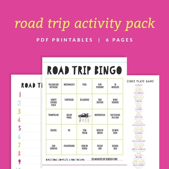 Road Trip License Plate Bingo Printable