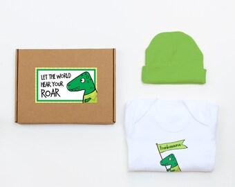 Set regalo per neonato nuovo dinosauro può essere personalizzato 428970ad59ac