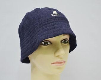 580162f1d49da Kangol Hat Kangol Bucket Hat Vintage Kangol Wool Bucket Cap Kangol Vintage  Navy Blue Hat Made in Great Britain