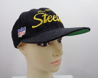 ac04fa16fc281a Pittsburgh Steelers Cap Vintage Pittsburgh Steelers Hat Vintage 90's Pittsburgh  Steelers Vintage Embroidery Logo NFL Hat Cap