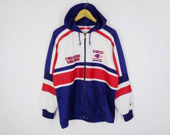 ddbba6b1ef4b Champion Jacket Vintage Champion Track Top 90's Champion Spell Out  Colorblock Hoodies Track Top Zipper Jacket Size Jaspo M