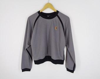 baf03189 Nike Sweatshirt Nike Pullover Vintage 90's Nike Court Heritage Small Logo  Sweater Sweatshirt Size Women L