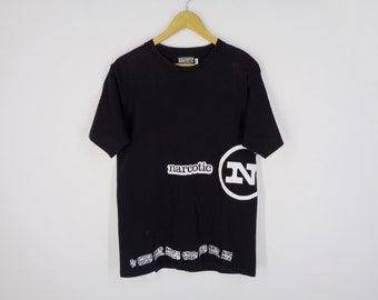 9948e3383 Narcotic Shirt Vintage Narcotic T Shirt Vintage 90's Narcotic NRCTC Over  Print Tee T Shirt Size L