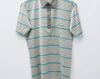 210e2afa Wimbledon Shirt Wimbledon Tennis Collection Polo Shirt Vintage Wimbledon  Mens Size L Wimbledon Renown Vintage Stripe Polo Shirt