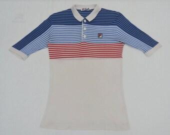 e6cde40c6dd7 Fila Shirt Bjorn Borg Shirt Vintage 90 s Fila Bjorn Borg Multicolor Stripes  Tennis Polo Shirt Size S