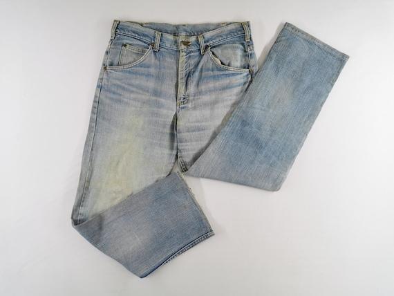 Lee Jeans Distressed Vintage Lee Jeans Pants Vint… - image 2