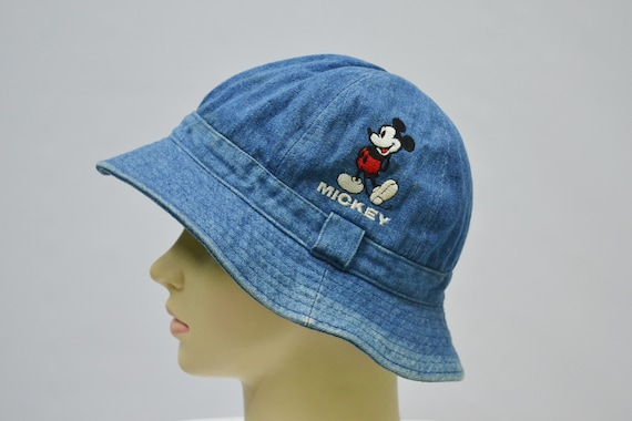 Mickey Mouse Hat Vintage Mickey Mouse Walt Disney Bucket Hat  d872c491388
