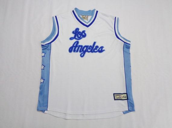 sale retailer 09982 ef947 LA Lakers Jersey Vintage Los Angeles Lakers Vintage NBA Basketball Jersey  By Majestic Size XXL