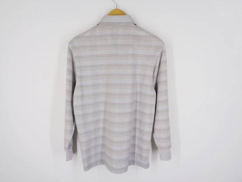 Gianni Valentino Shirt Vintage Gianni Valentino Polo Shirt 90/'s Gianni Valentino Italy Long Sleeve Polo Tee T Shirt Size M