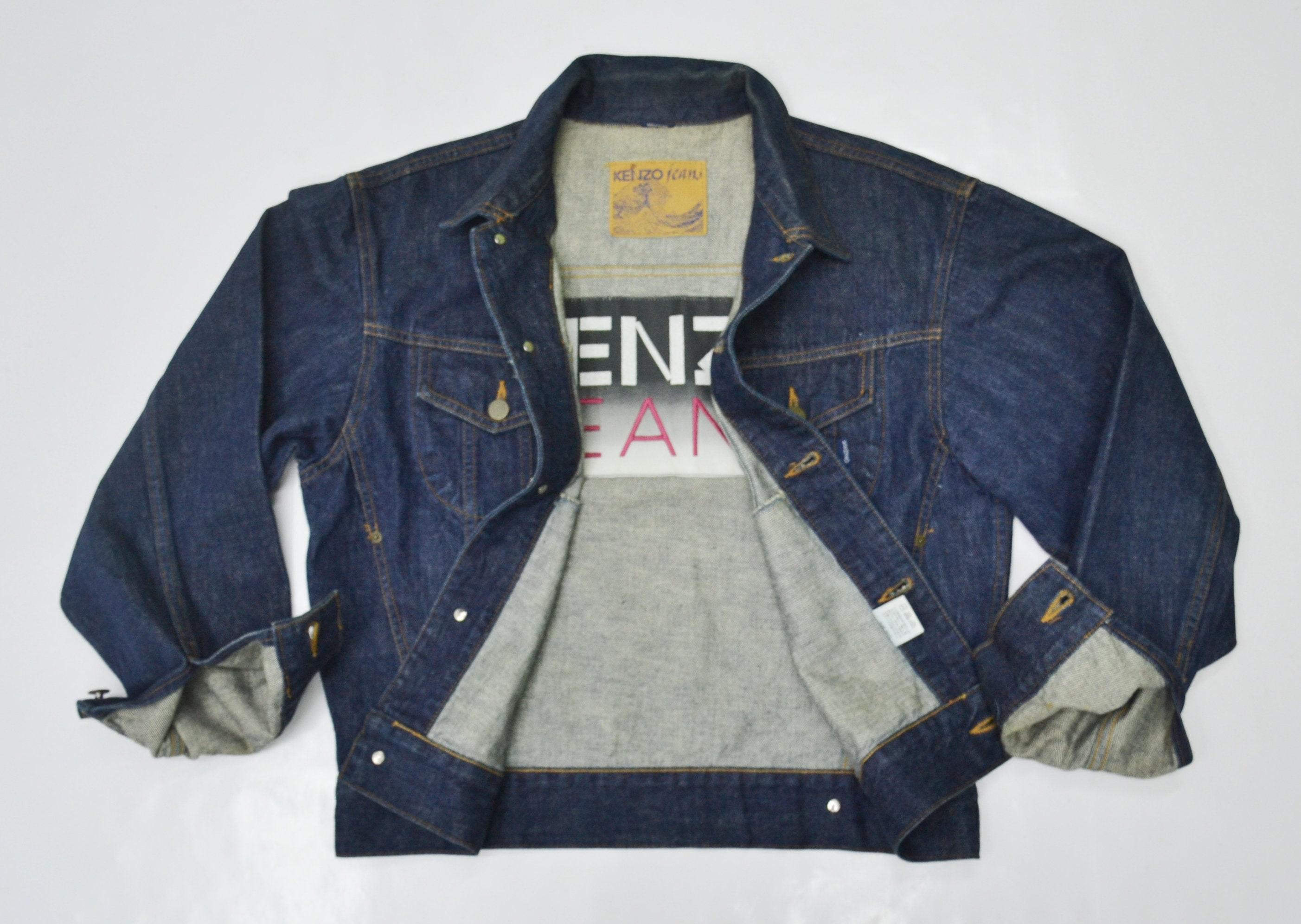 c848a6d9749 Kenzo Jacket Kenzo Jeans Denim Jacket Size M Vintage Kenzo Big