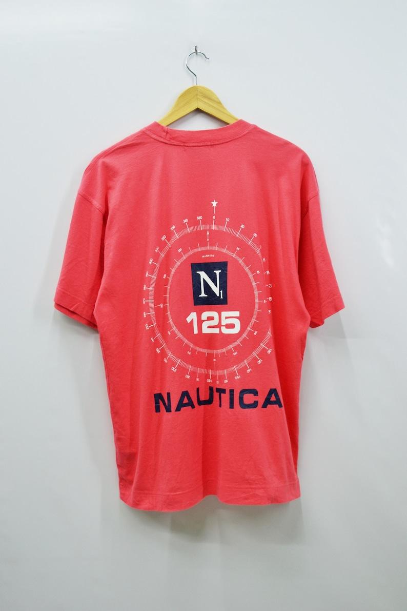 6d43b6094 NAUTICA Shirt Vintage Nautica N1 125 Sailing Gear Big Logo   Etsy