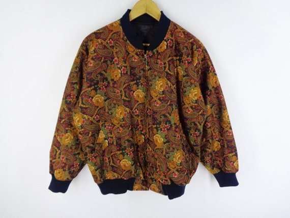 All Over Print Jacket Vintage Paisley Windbreaker