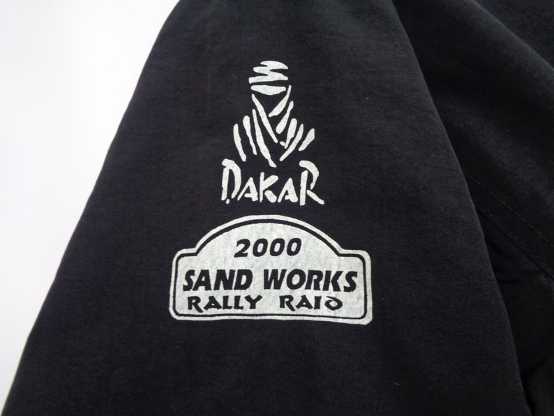 Dakar Rally Jacket Vintage Dakar Sand Works Project Rally Raid by Toyo Tire Jacket Size LL