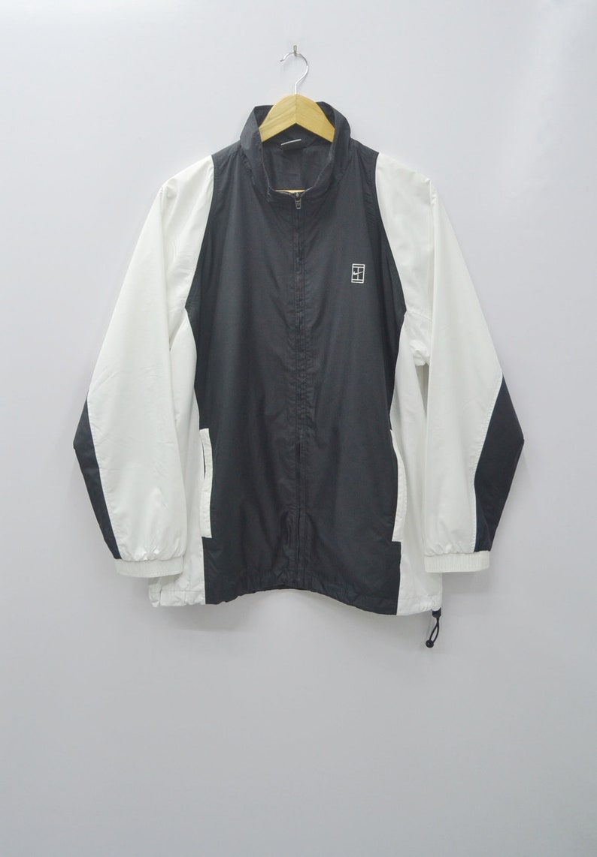 NIKE Windbreaker Vintage 90's Nike Court Sweater Nike Colorblock Zipper Sweater Jacket Size M