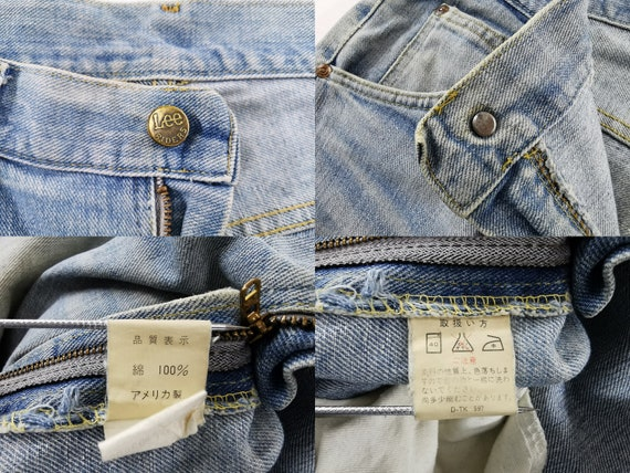 Lee Jeans Distressed Vintage Lee Jeans Pants Vint… - image 9