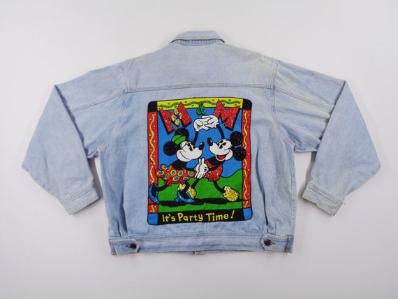Mickey Mouse Jacket Distressed Vintage Mickey Mous