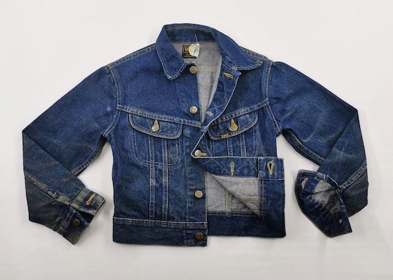Lee Jacket Distressed Vintage Size 12 Lee Denim Ja