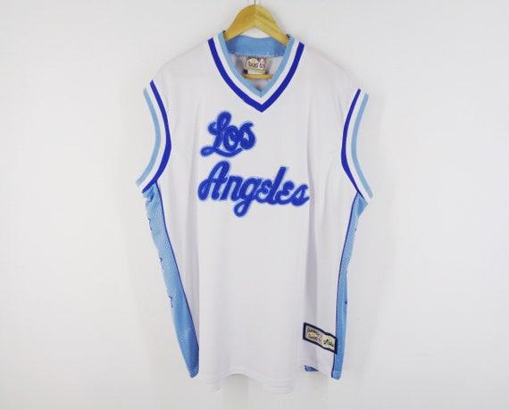 sale retailer acff5 52b2f LA Lakers Jersey Vintage Los Angeles Lakers Vintage NBA Basketball Jersey  By Majestic Size XXL