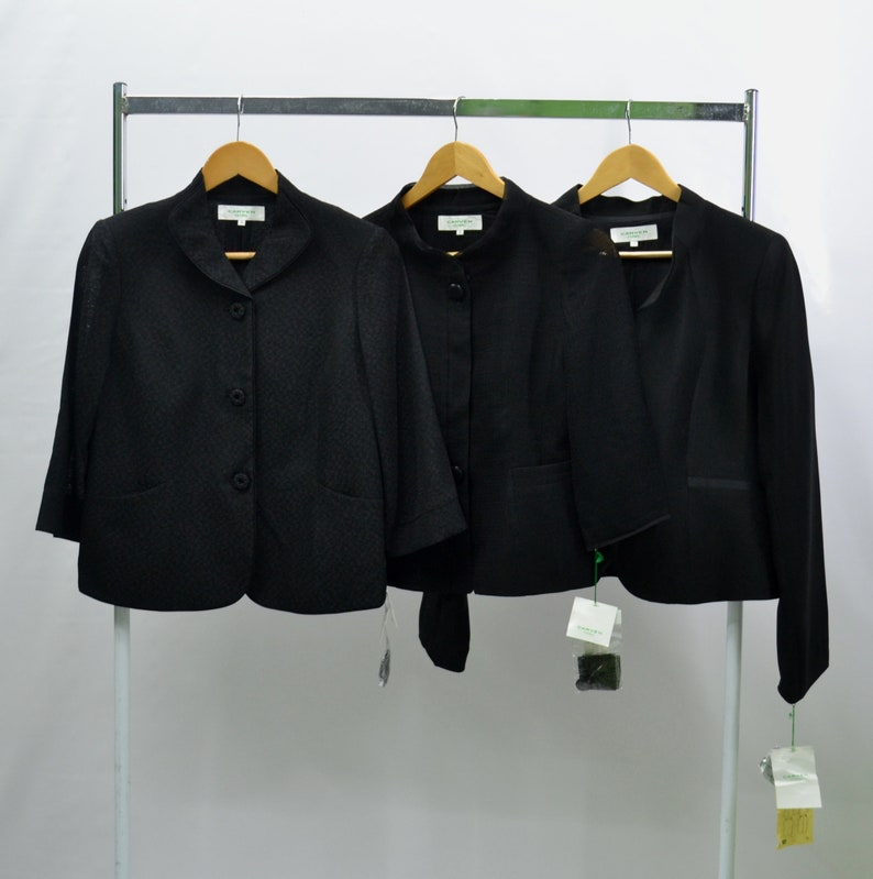 latest fashion wholesale sales low price Carven Shirt Lot of 3 Carven Formal Womens Made in Japan Vintage Carven  Black Cropped Crepe Jacket Carven Vintage 90's Casual Women Shirt