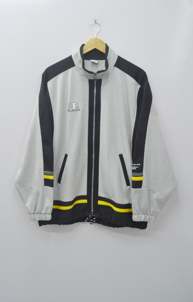 1e57958c1e13 Champion Jacket Vintage 90 s Champion Small Logo Spell Out