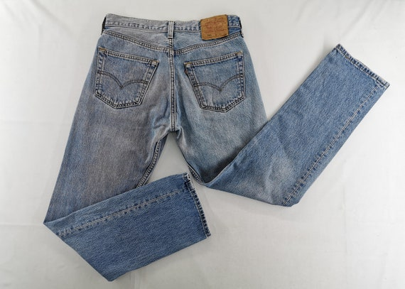 Levis 501 Jeans Distressed Vintage Levis Denim Pan
