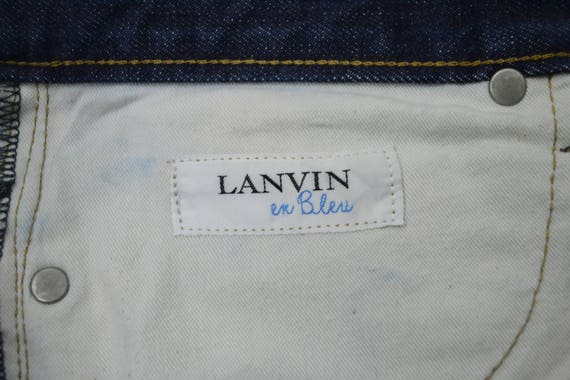 90's 33 Japan LANVIN Pants Jeans Ex Jeans Lanvin Size Vintage In Blue Buttons Made RBFBqE