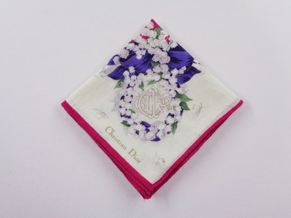 Christian Dior Handkerchief Vintage Christian Dio… - image 1