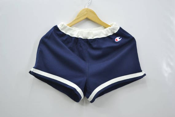 Champion Shorts Vintage 90's Champion Products Logo Made In Japan Shorts Pants Size Jaspo O by Etsy