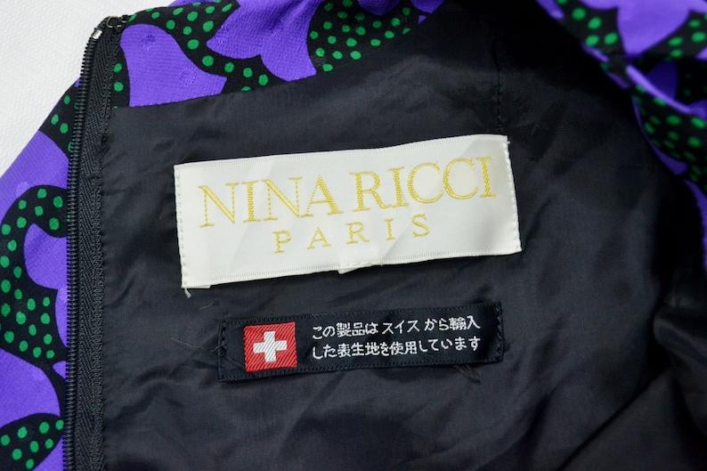 Nina Ricci Dress Nina Ricci Women Dress Nina Ricci Vintage Dress Vintage Nina Ricci Paris Made in Japan Women Dress