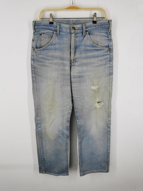 Lee Jeans Distressed Vintage Lee Jeans Pants Vint… - image 4